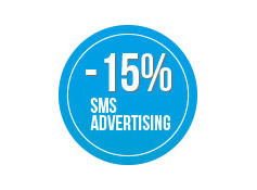 Sconto 15% su una  campagna di sms  Advertising