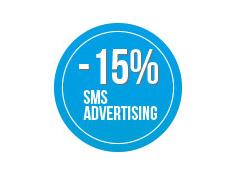 Sconto 15% su una  campagna di sms  Advertising