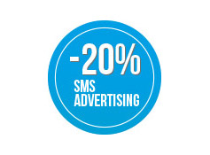 Sconto 20% su una  campagna di sms  Advertising