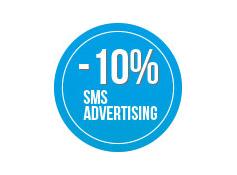 Sconto 10% su una  campagna di sms  Advertising