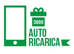 Autoricarica di 164 euro pari a  3000 crediti